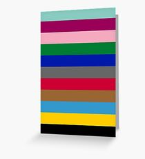 Colours of The London Underground Greeting Card