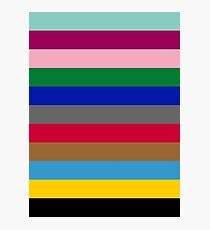 Colours of The London Underground Photographic Print