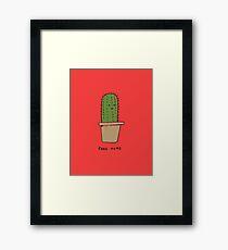 Free Hugs -- The Cactus Framed Print
