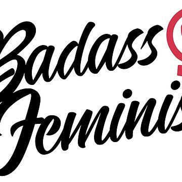 Badass Feminist Sticker by feministshirts