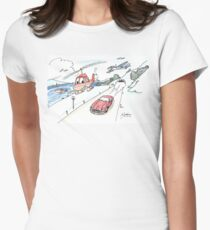 Funny car, airplane, boat and helicopter Women's Fitted T-Shirt