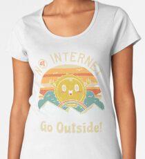 Keine Internet-Vibes! Premium Rundhals-Shirt
