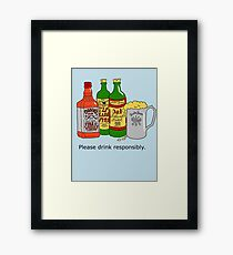 Please Drink Responsibly Framed Print