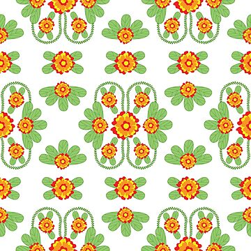 Colorful Floral Folk Pattern by Eng-Sun