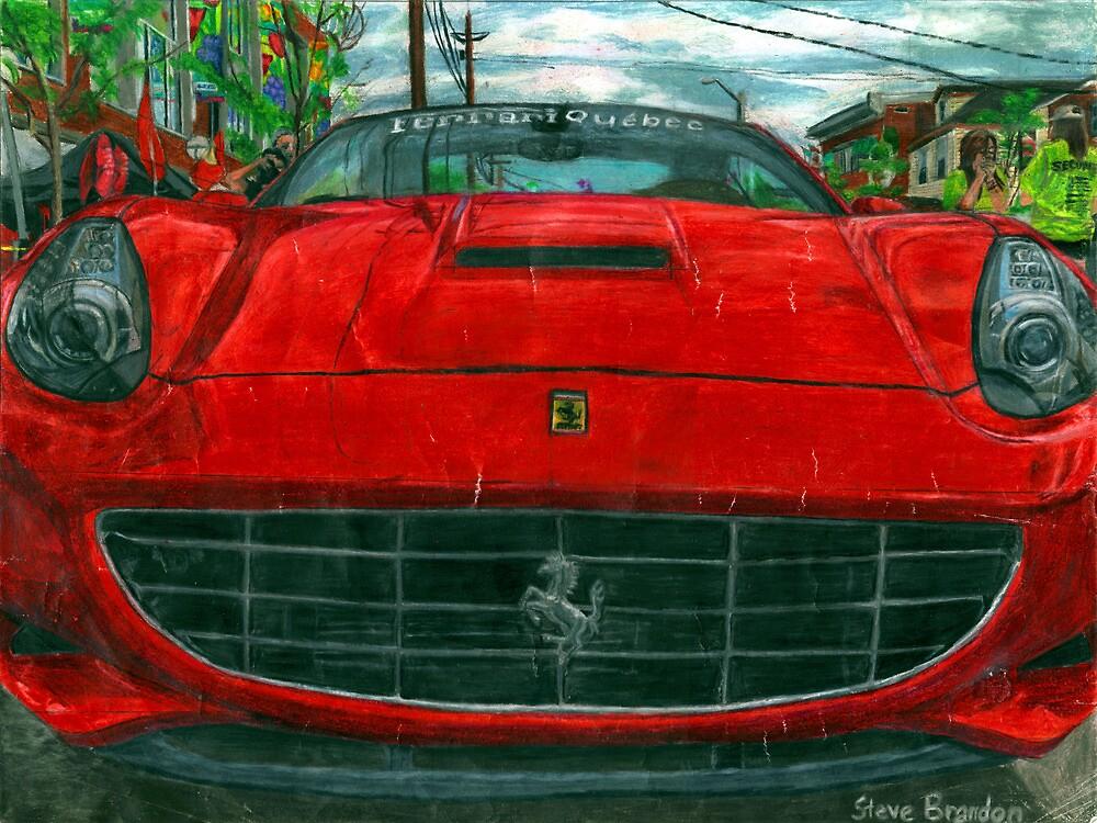 Chesire Cat grin Ferrari California. by SteveBrandon