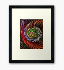 Ribbon Candy Flower Framed Print