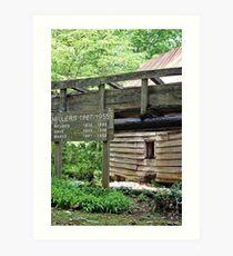 Dellinger Grist Mill in Bakersville, NC Art Print