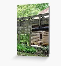 Dellinger Grist Mill in Bakersville, NC Greeting Card