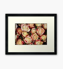 Strawberris And Cream Framed Print