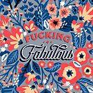 F * cking Fabulous - Denim & Coral Palette von Cat Coquillette