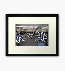 Weight Room Framed Print