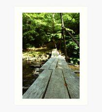 Footbridge to Anywhere Art Print