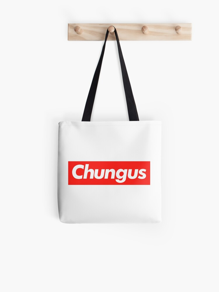 Big Chungus Rabbit Supreme Embleme Meme Text Art Tote Bag By