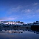 The Roaches seen reflected in Tittesworth reservoir. by Brett Trafford