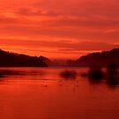 Rudyard bathed in a fiery red glow by Brett Trafford