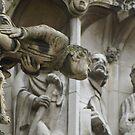 York Minster gargoyle detail  by BronReid