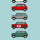Morris mini-minor / Austin Se7en - 60th anniversary car collection by RJWautographics