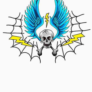 Lightening Skull Death by blueskydesigns