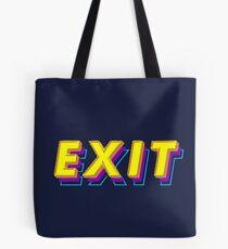Exit Neon Lights Tote Bag