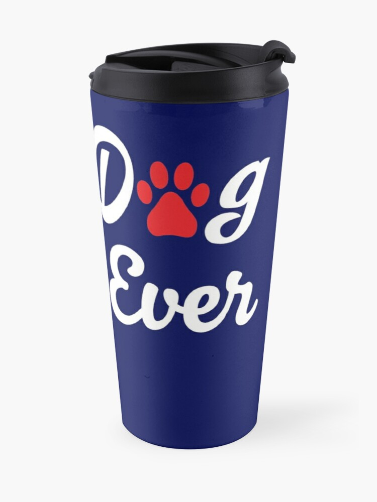 'Best Dog Dad Ever T-Shirt With A Paw Print: Cute Valentine's Day Gift Idea For Men' Travel Mug by Dogvills
