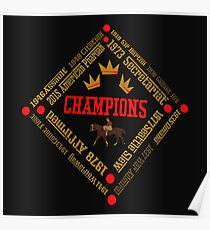 Horse Racing Triple Crown Winners Poster