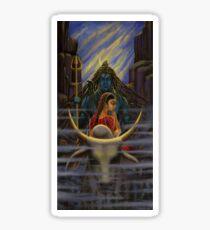 Shiva Parvati. Night in Himalayas Sticker