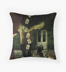 Alice in Wonderland - 20 years later Throw Pillow