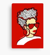 Strawberry Lady- Red Canvas Print