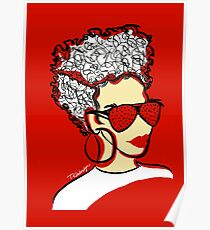 Strawberry Lady- Red Poster