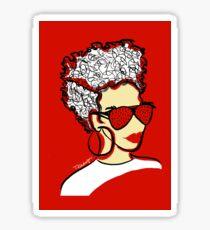 Strawberry Lady- Red Sticker