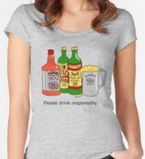 Please Drink Responsibly Women's Fitted Scoop T-Shirt