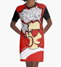 Strawberry Lady- Red Graphic T-Shirt Dress