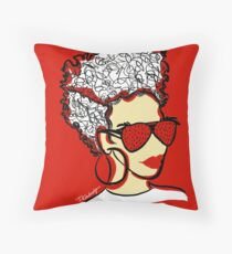 Strawberry Lady- Red Throw Pillow