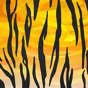 Tiger Black y Orange Print de ImagineThatNYC