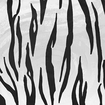 Tiger Blanco y negro Print de ImagineThatNYC