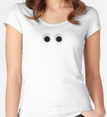 Googly Eyes Women's Fitted Scoop T-Shirt
