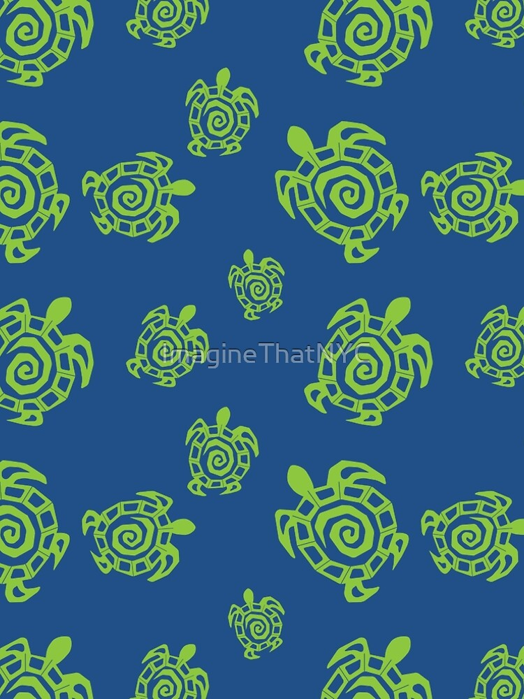 Tortuga verde y azul impresión de ImagineThatNYC