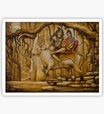 Shiva Parvati Ganesha Sticker