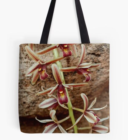 IN CONTRAST - THE ROCK AND THE DELICATE ORCHID Tote Bag