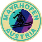Skiing Mayrhofen Austria Ski Zillertal Valley Tyrol by MyHandmadeSigns