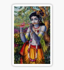 Krishna with flute Sticker