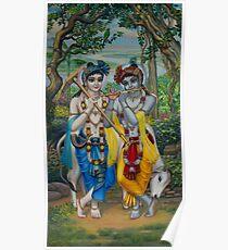 Krishna and Balaram Poster