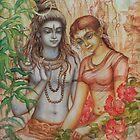 Shiva and Parvati by Vrindavan Das