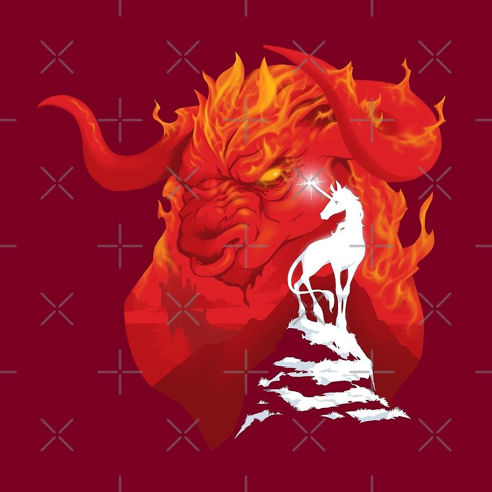The Last Unicorn by Jeff Powers Illustration