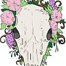 Floral Skull - Broken by Amanda  Shelton