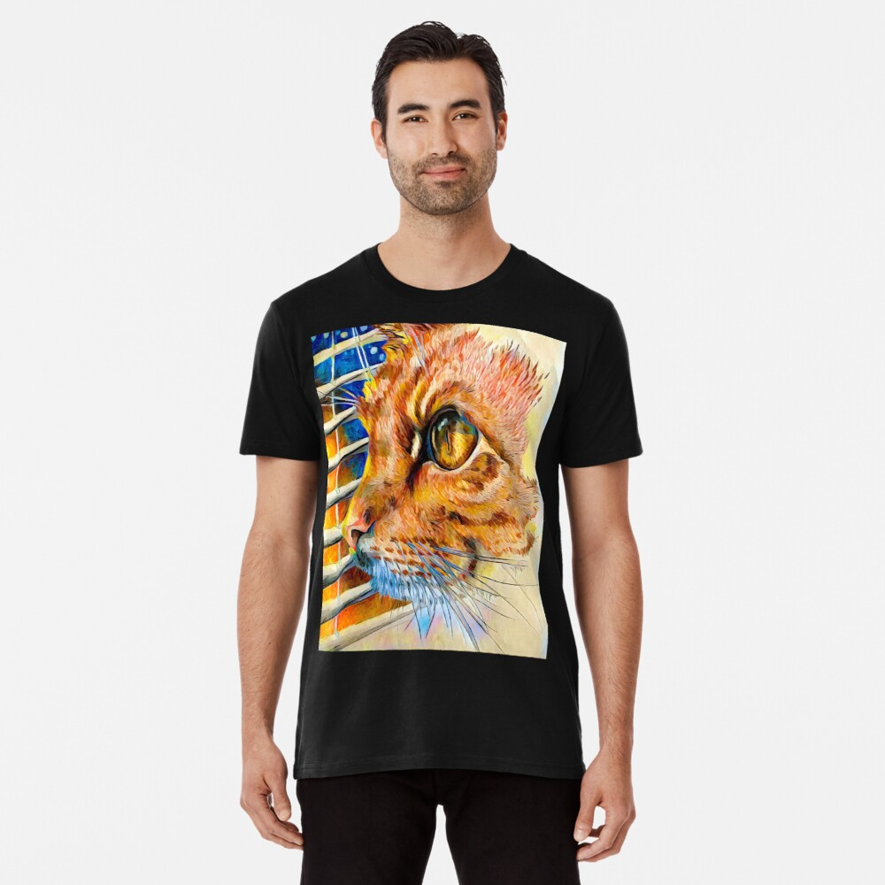 Winter-Sonnenuntergang Premium T-Shirt
