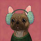 Winter dressed french bulldog  by Bezzikapa