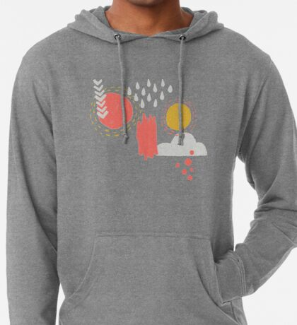 Abstract Weather - Coral + Midnight Blue Lightweight Hoodie