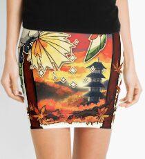 Heart Gold Mini Skirt