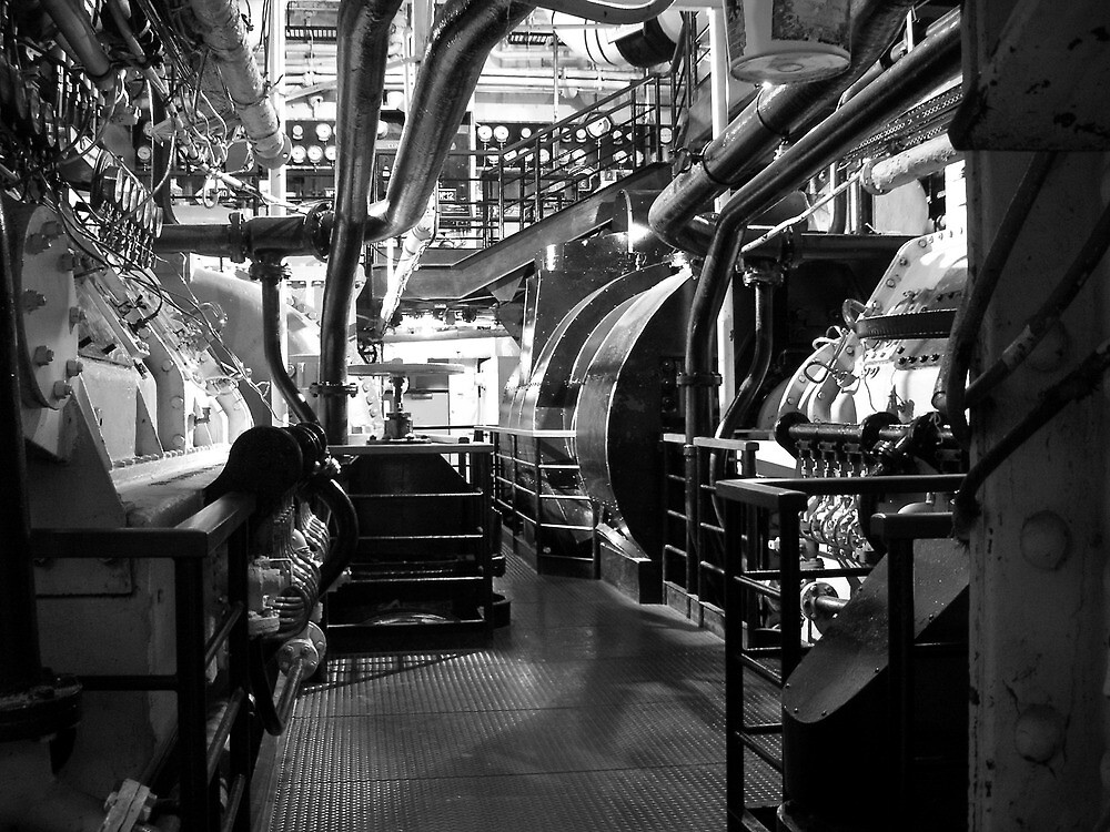Quot Engine Room Queen Mary Long Beach California Usa Quot By